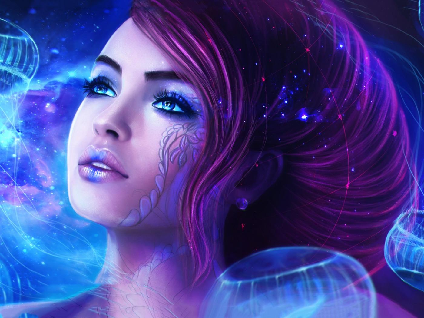 Заказ курск, картинки в космосе девушка