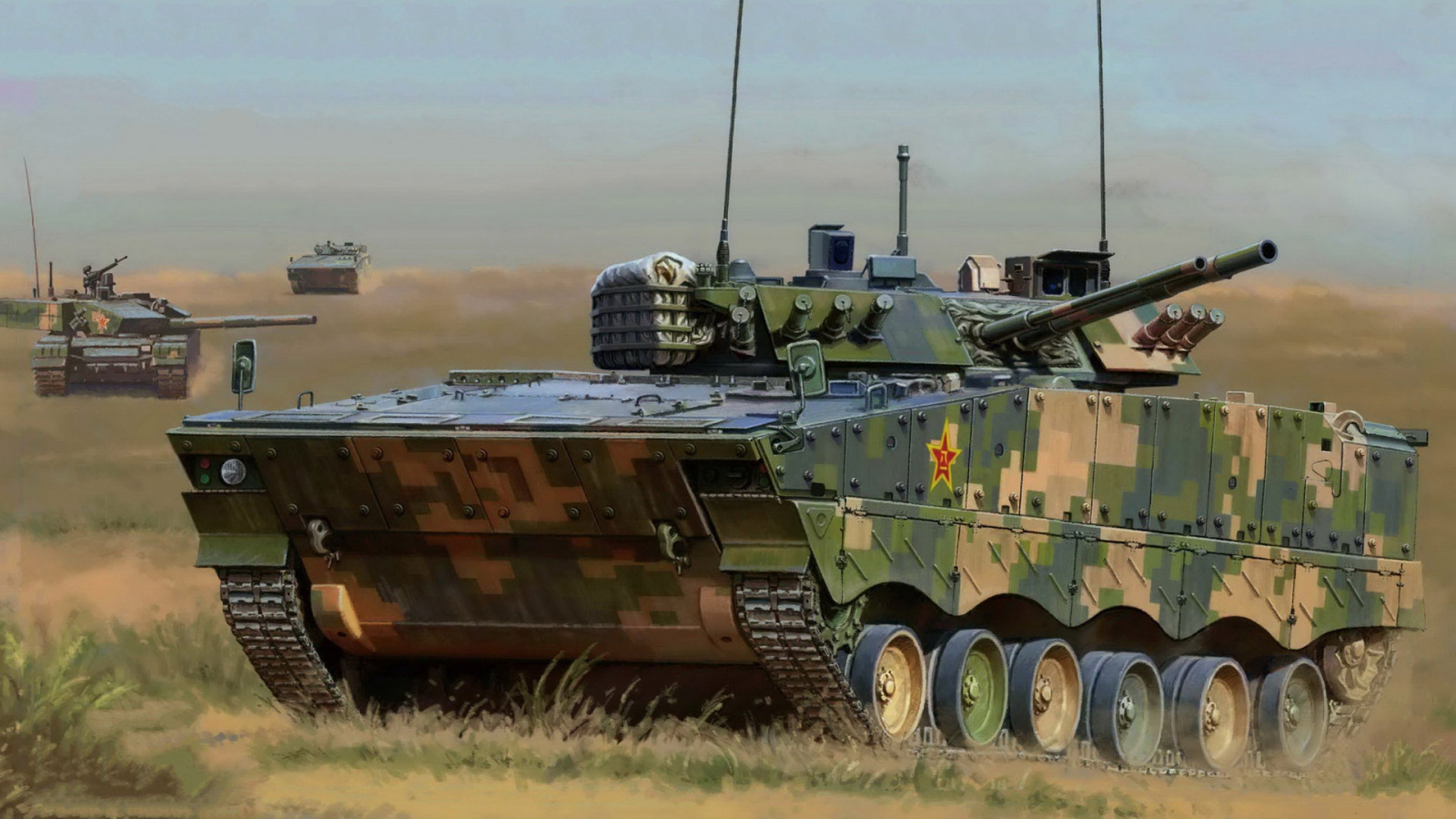 zbd 04 infantry fighting vehicle - HD 1600×900
