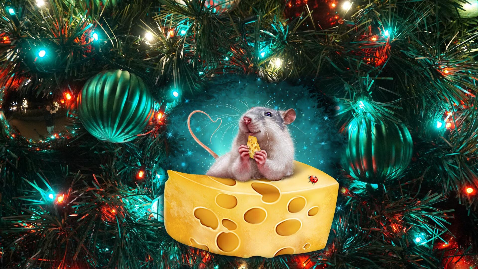 помощью новогодние обои на рабочий стол год мыши снизу вверх, начиная