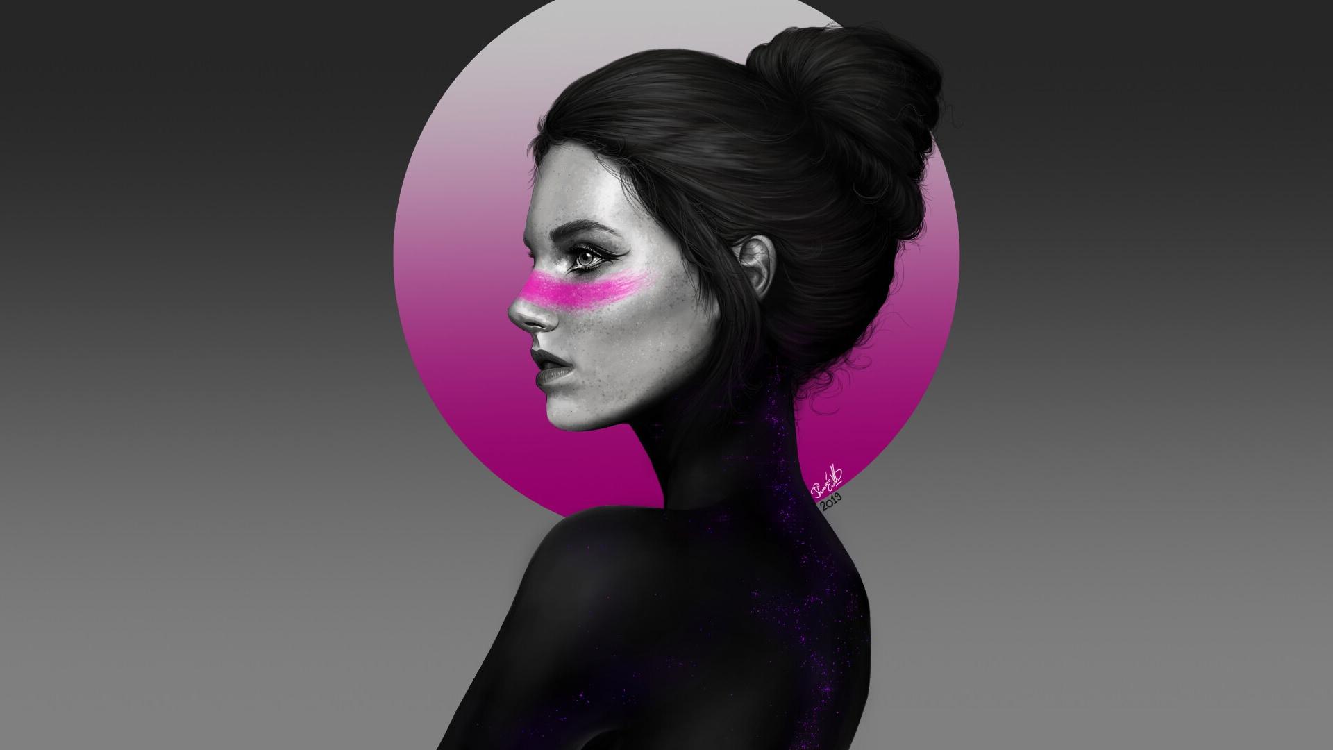 Картинки девушка минимализм