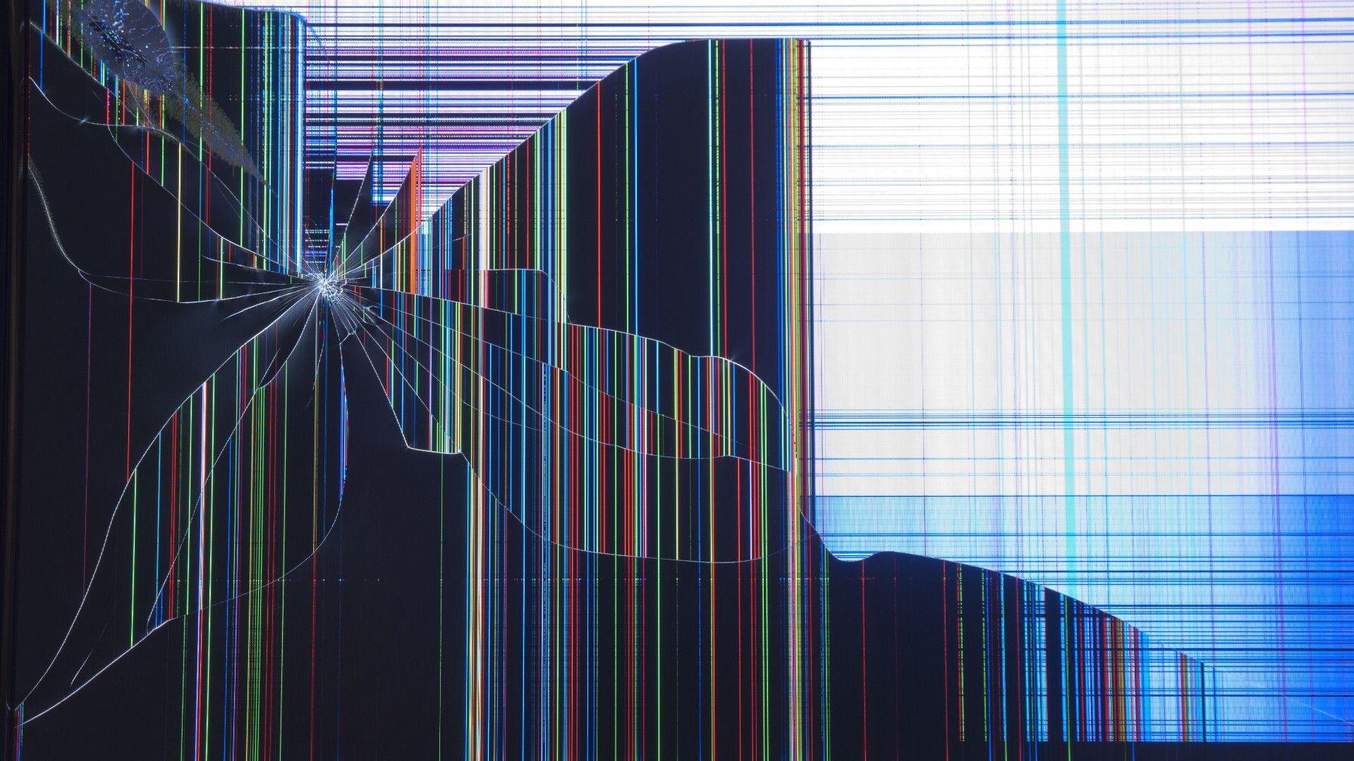 Картинка битый монитор