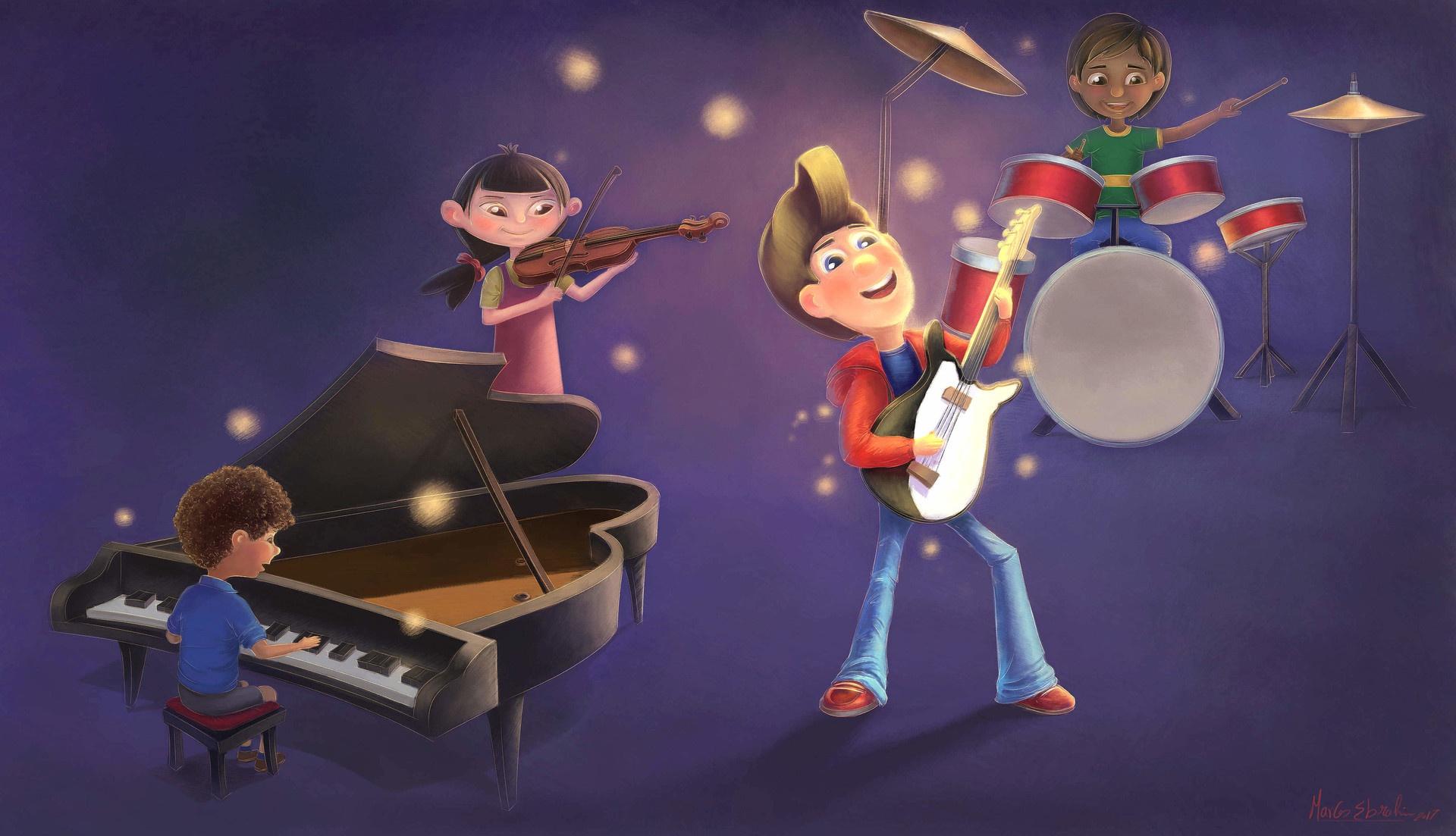 Детский рисунок концерта
