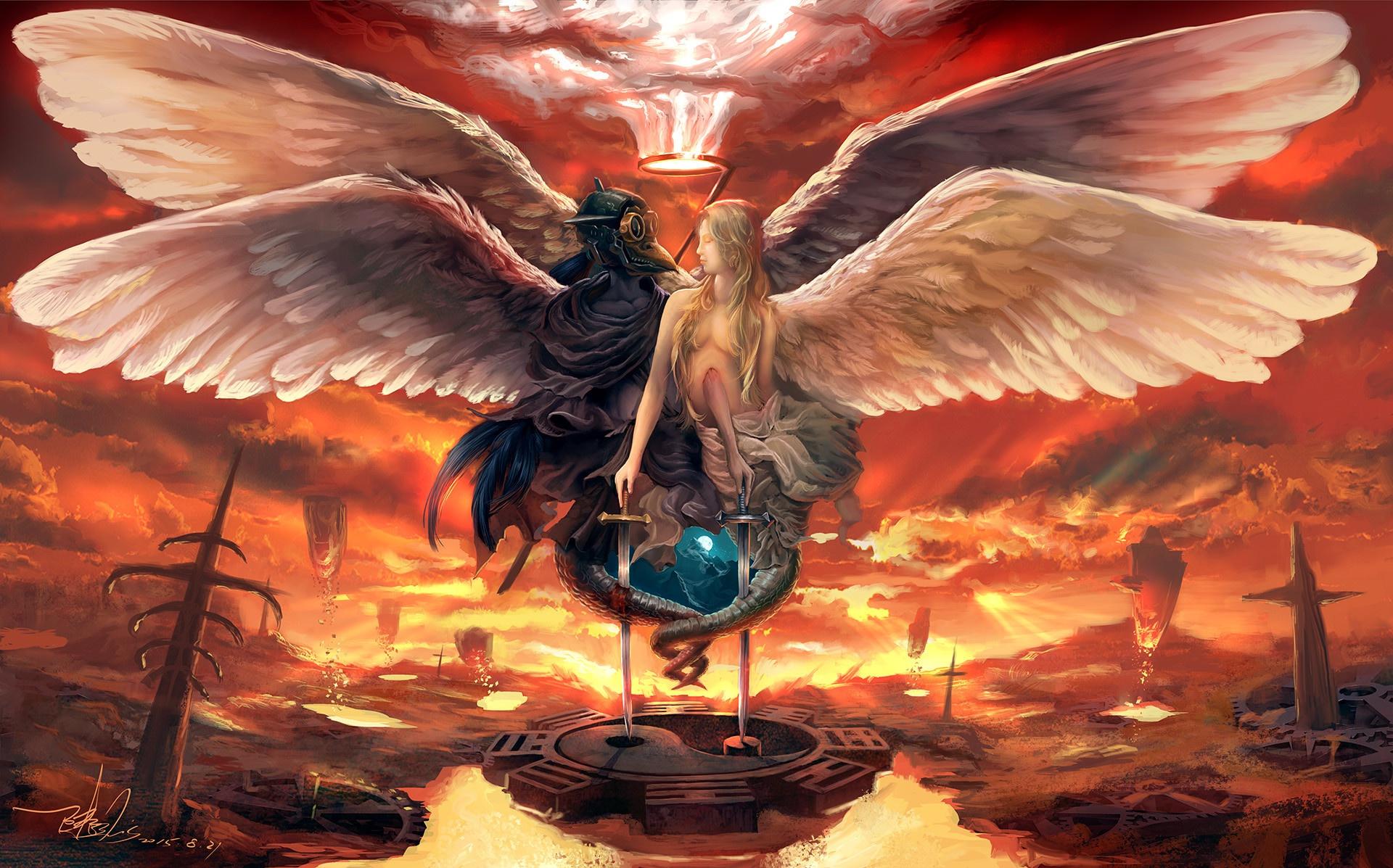 Ангел добрый и злой картинки
