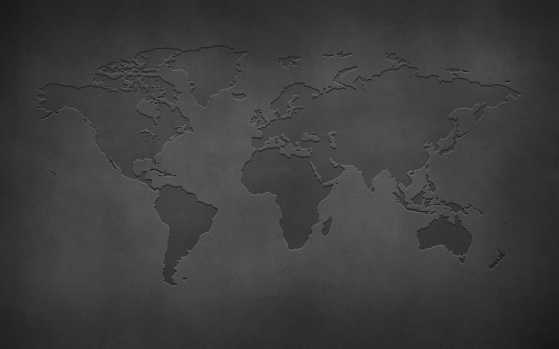 Обои Стол Карта Мира