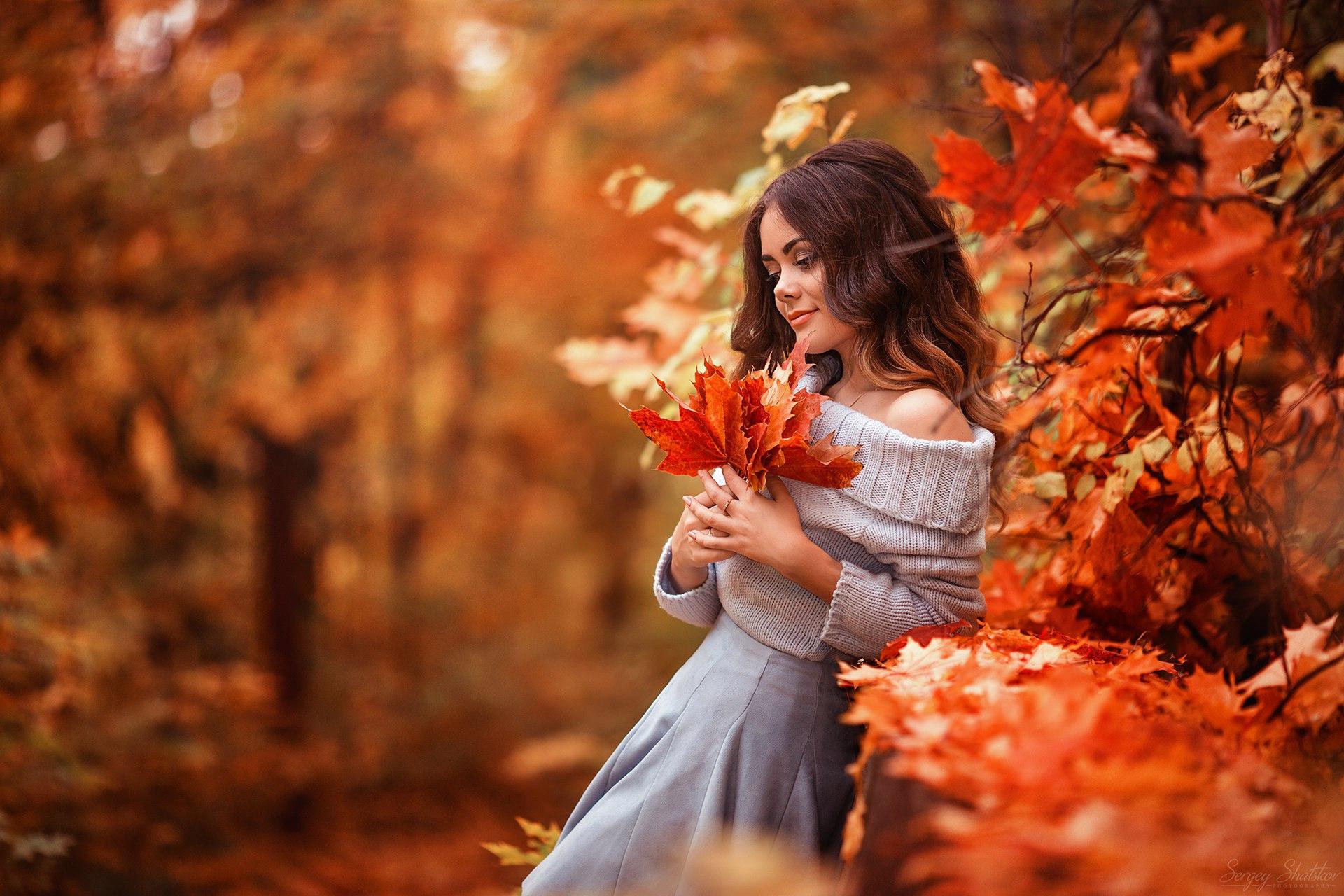 Осень как девушка картинки