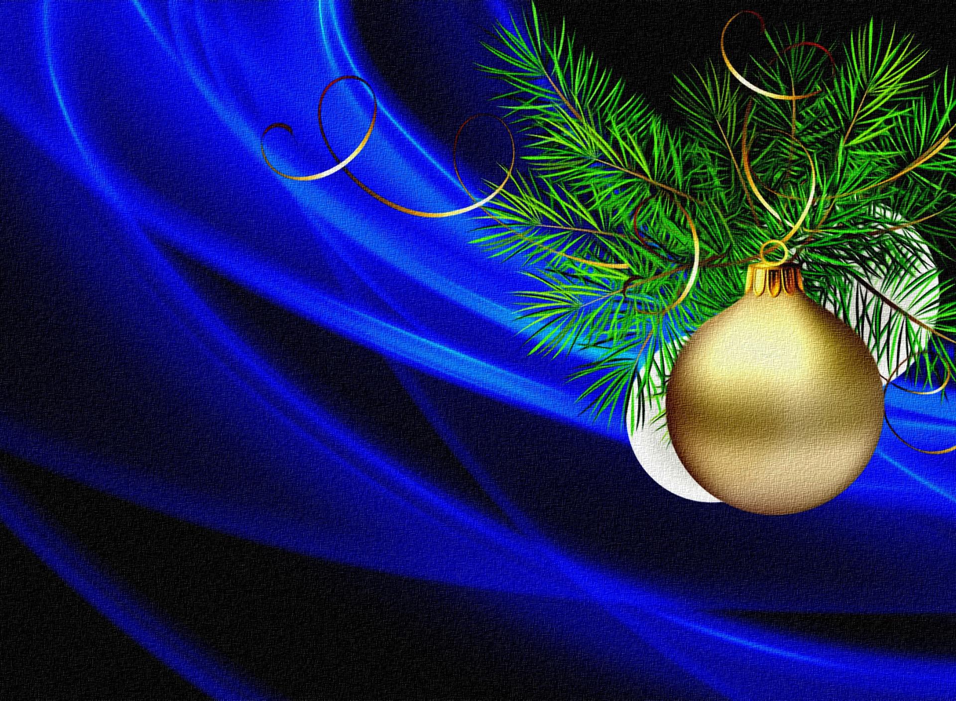 еловая ветка открытка новый год два