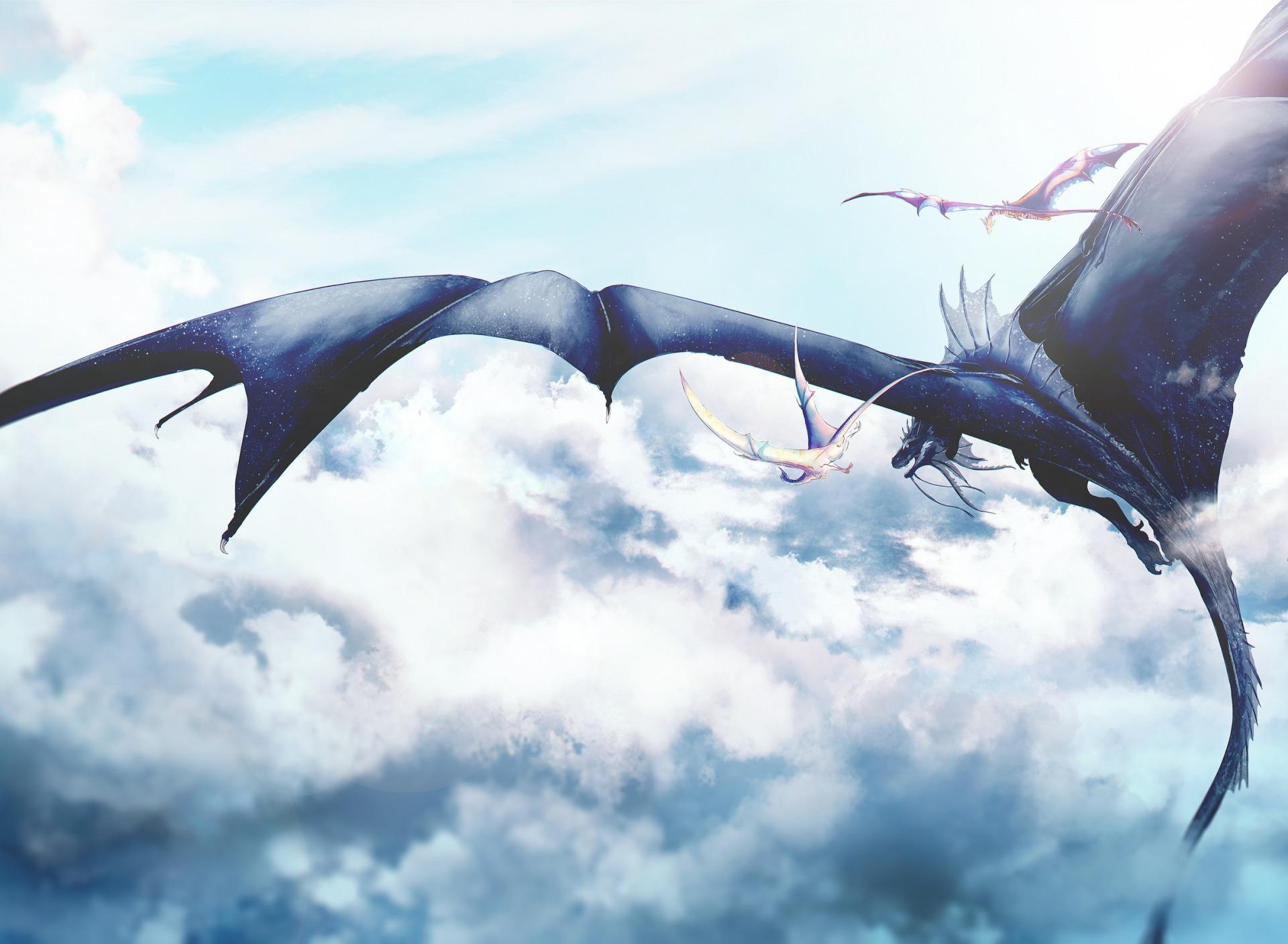 лингвисты небо драконы картинки на рабочий стол что
