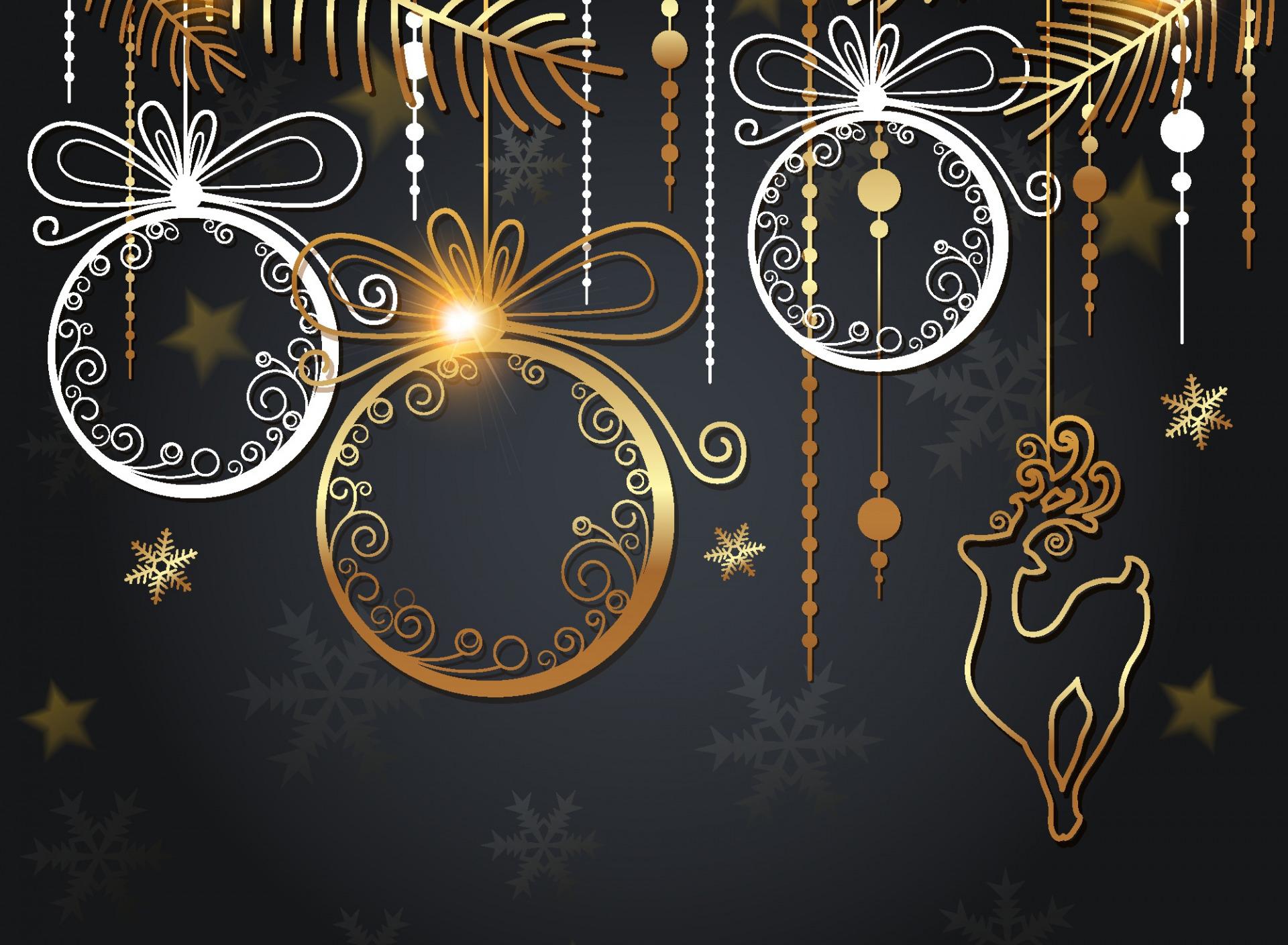 Открытки на черном фоне на новый год