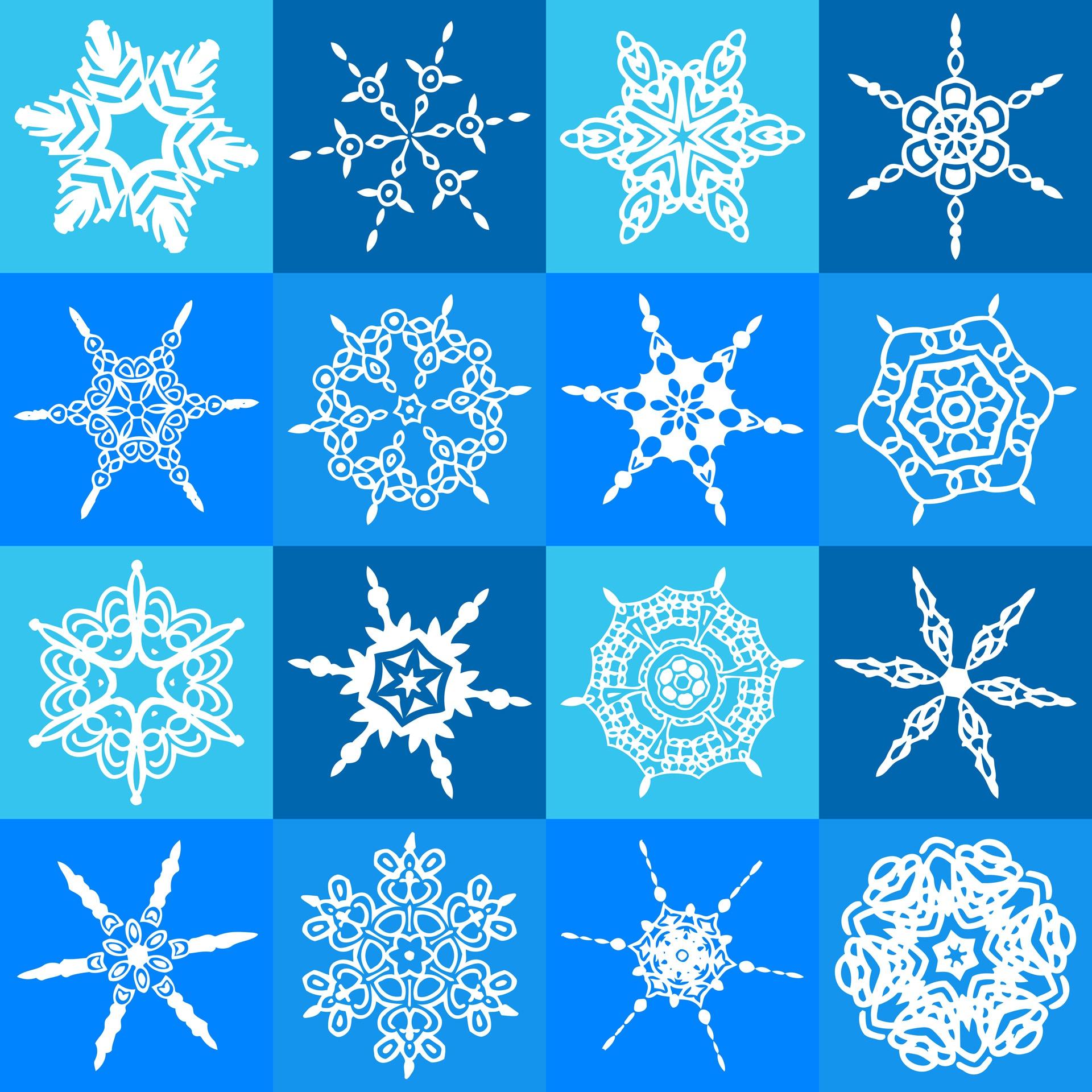 Картинки узор снежинок