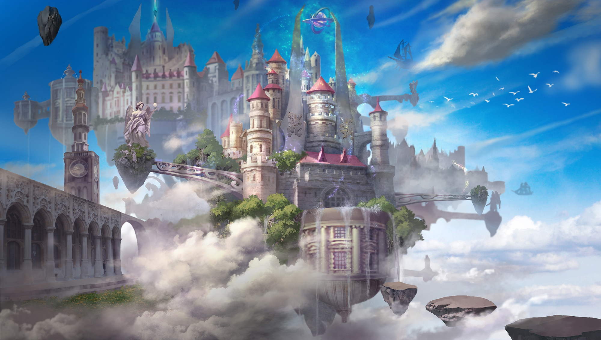 Картинка фантастического замка