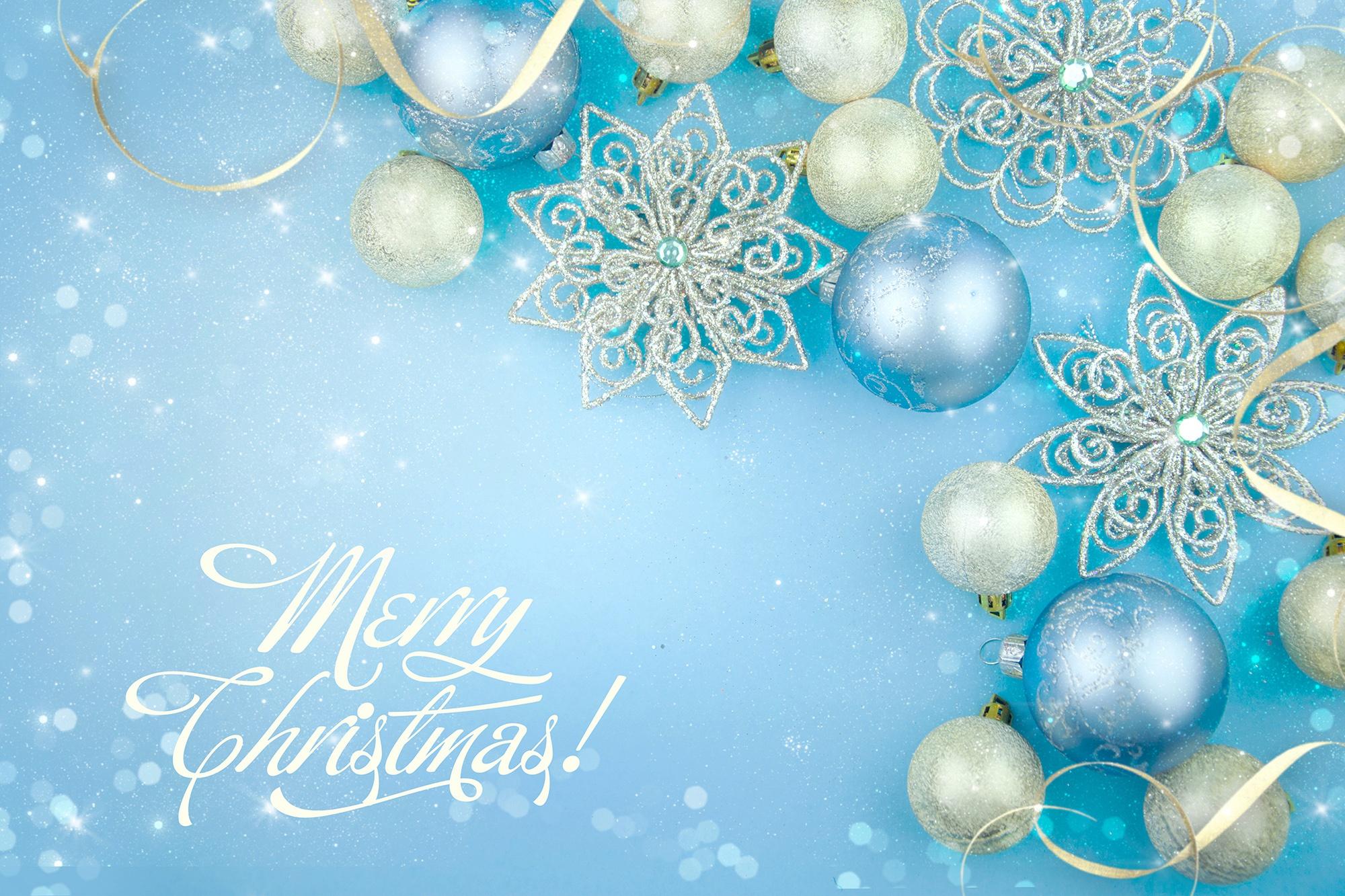 Новогодние открытки больших разрешений, днем