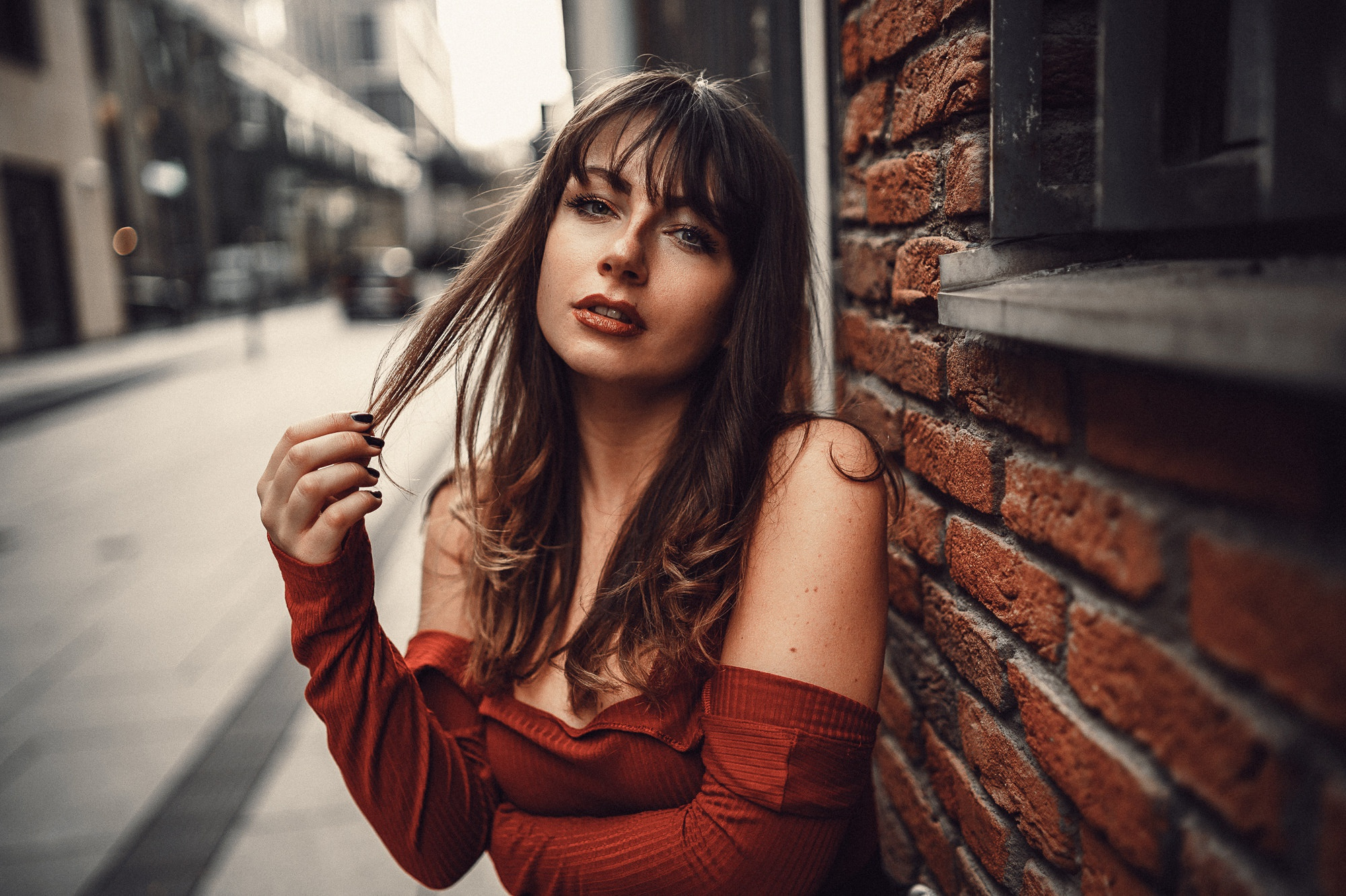 фотосессия портрет на улице особой