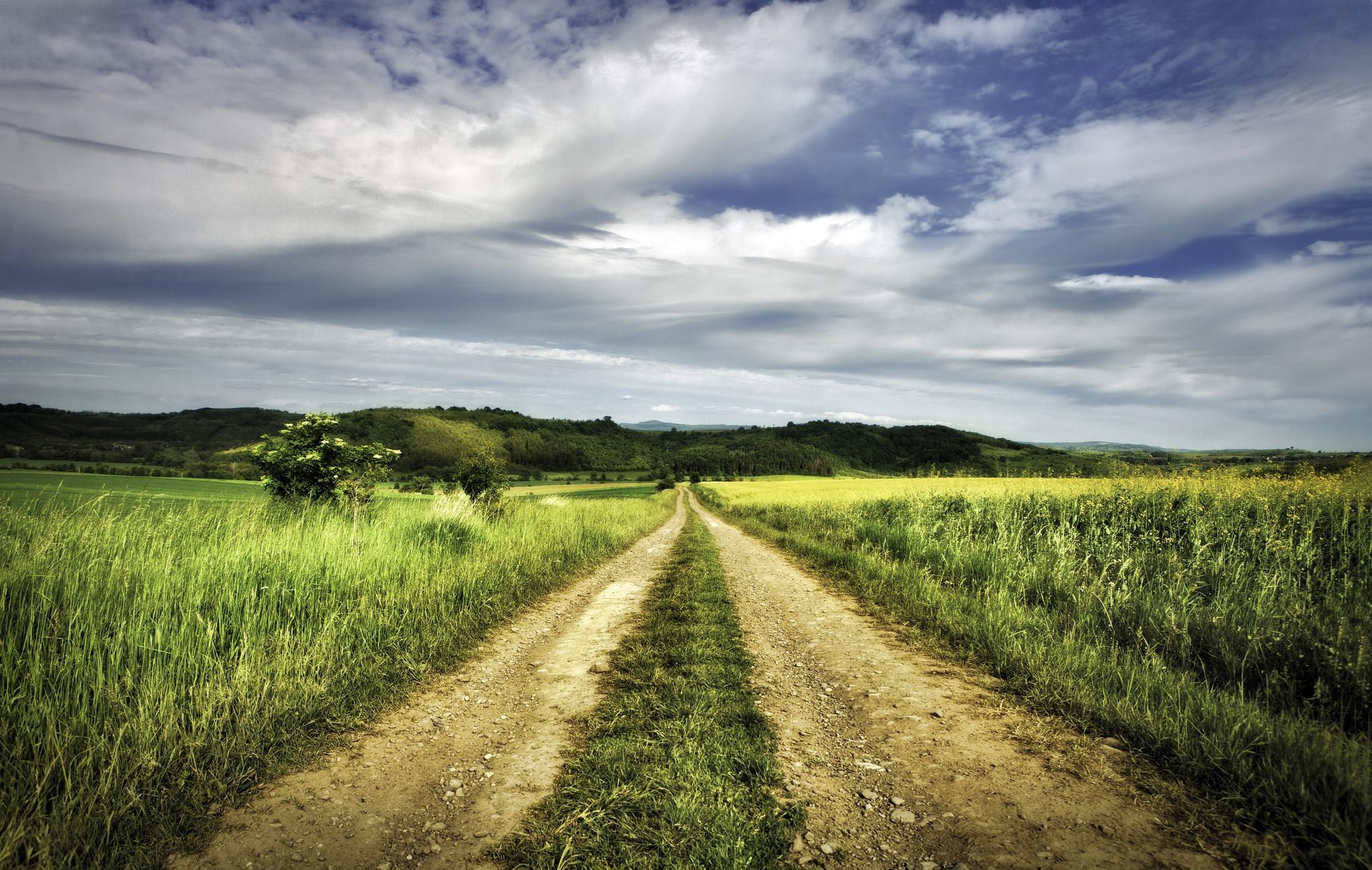 далеко картинка проселочная дорога в даль вулканы тамани возникли