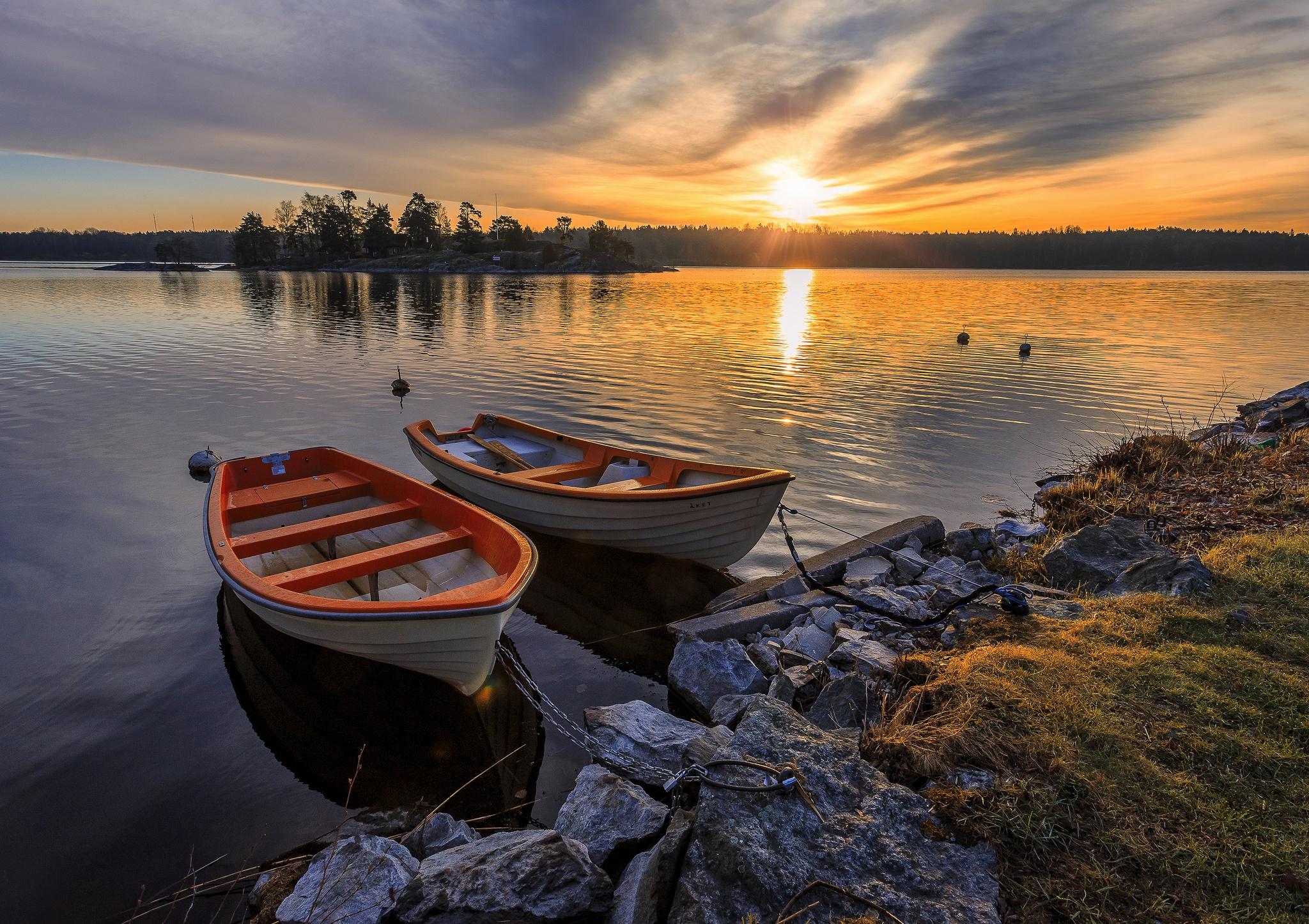 для лодки фото пейзаж качестве