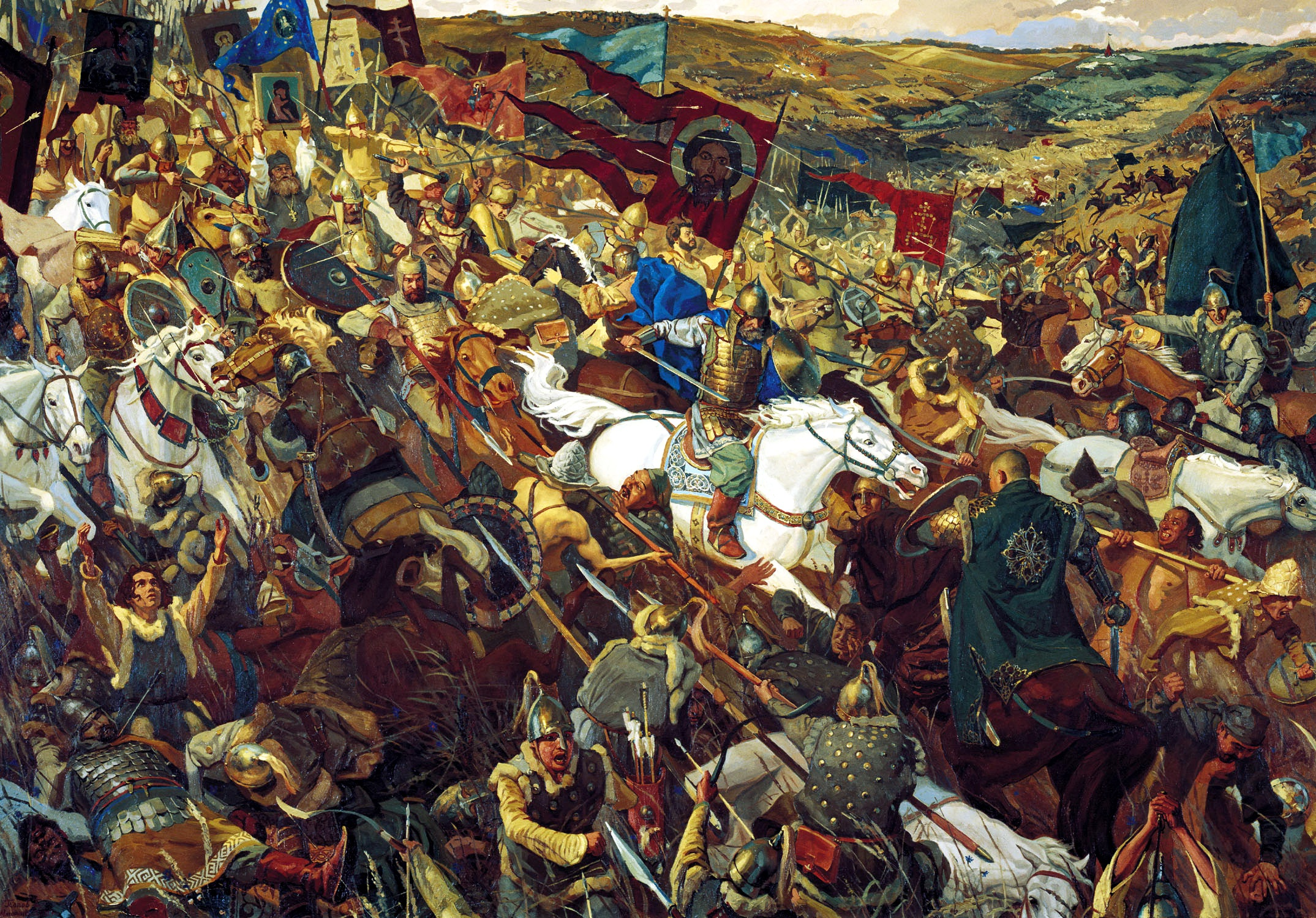 картины посвященные куликовской битве фото цвет
