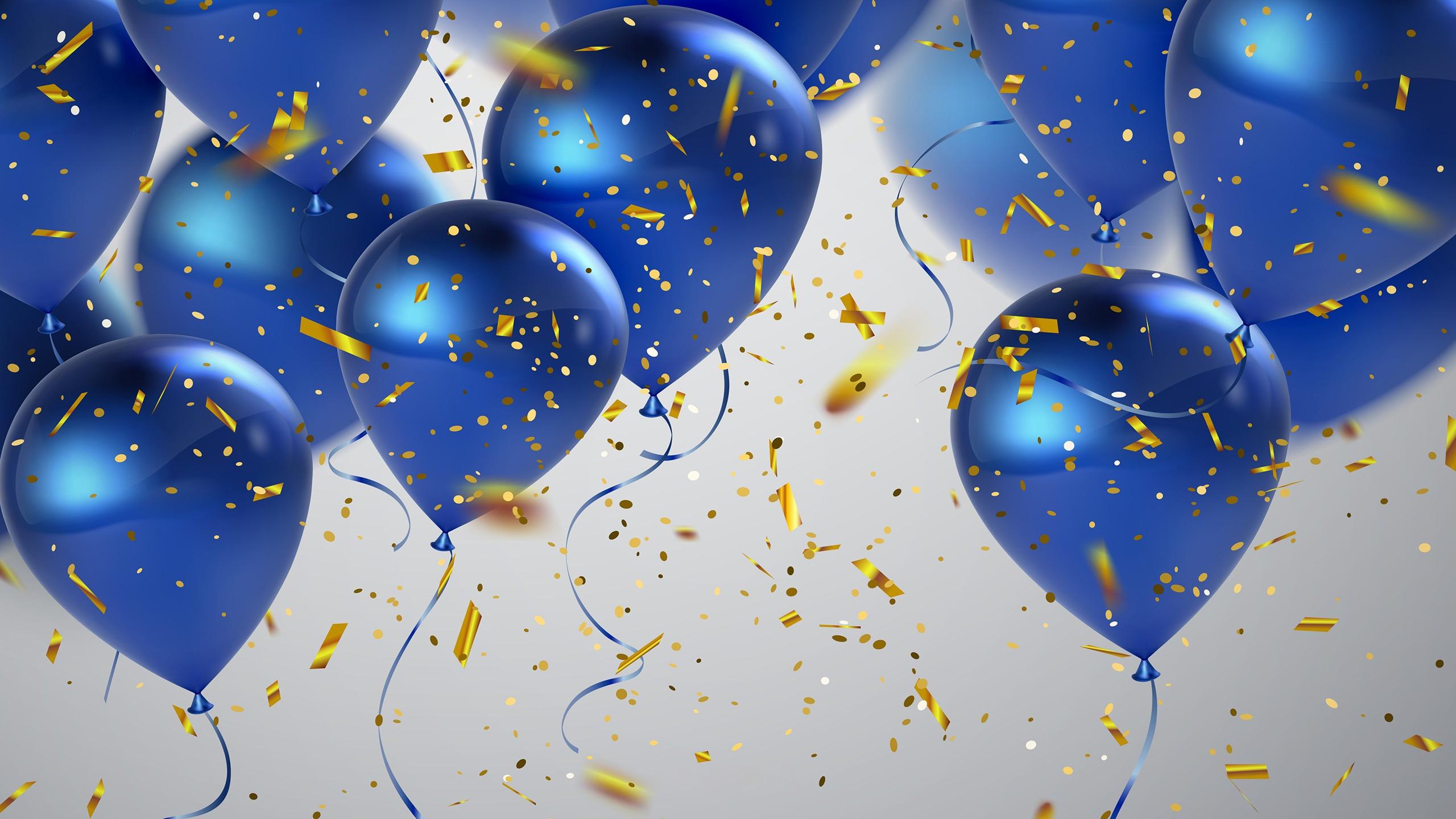Открытка синяя праздничная