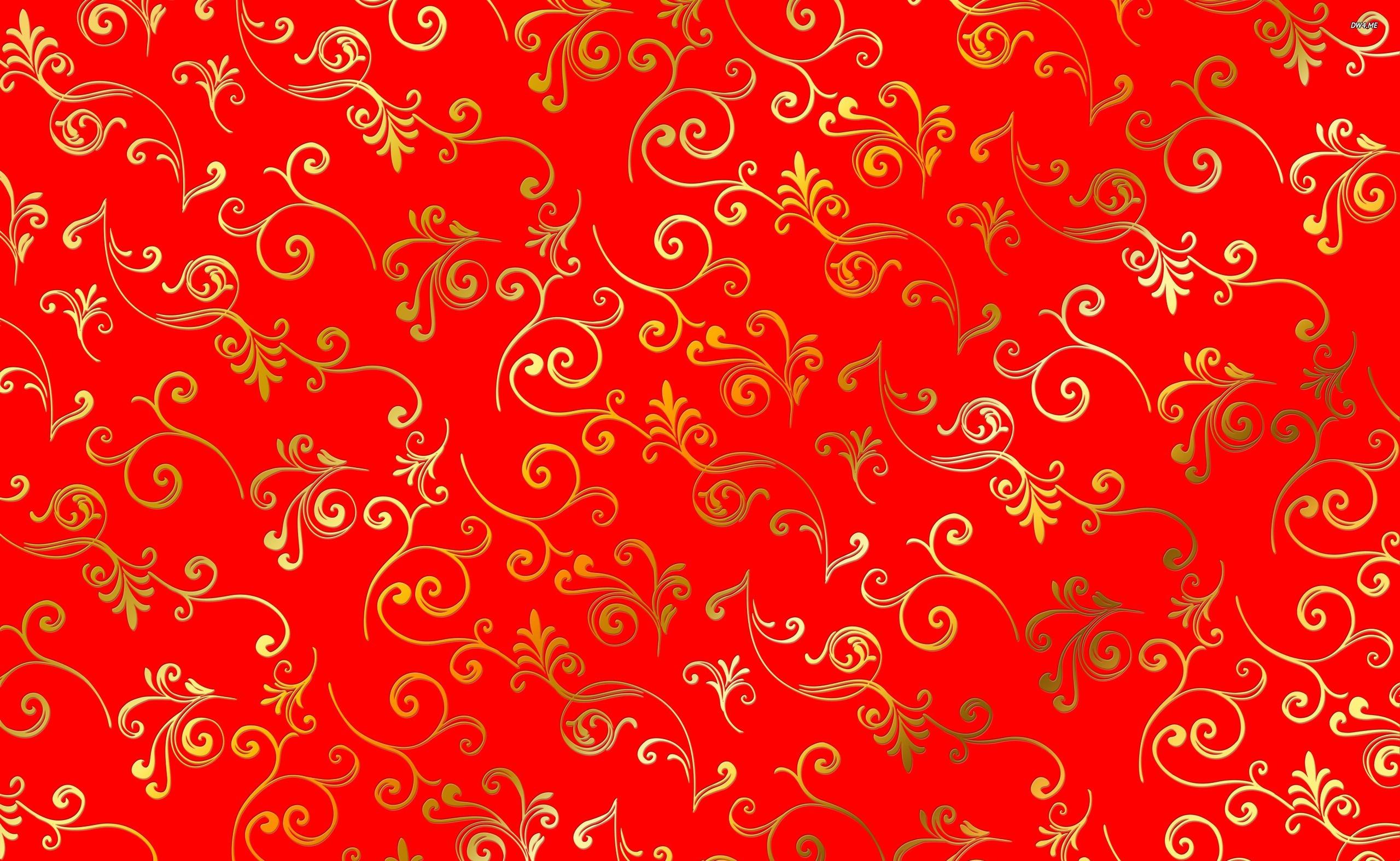 Картинки с узорами красные