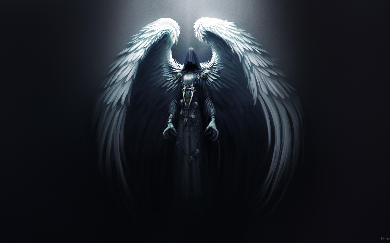 Картинки ангела с крыльями во тьме, днем