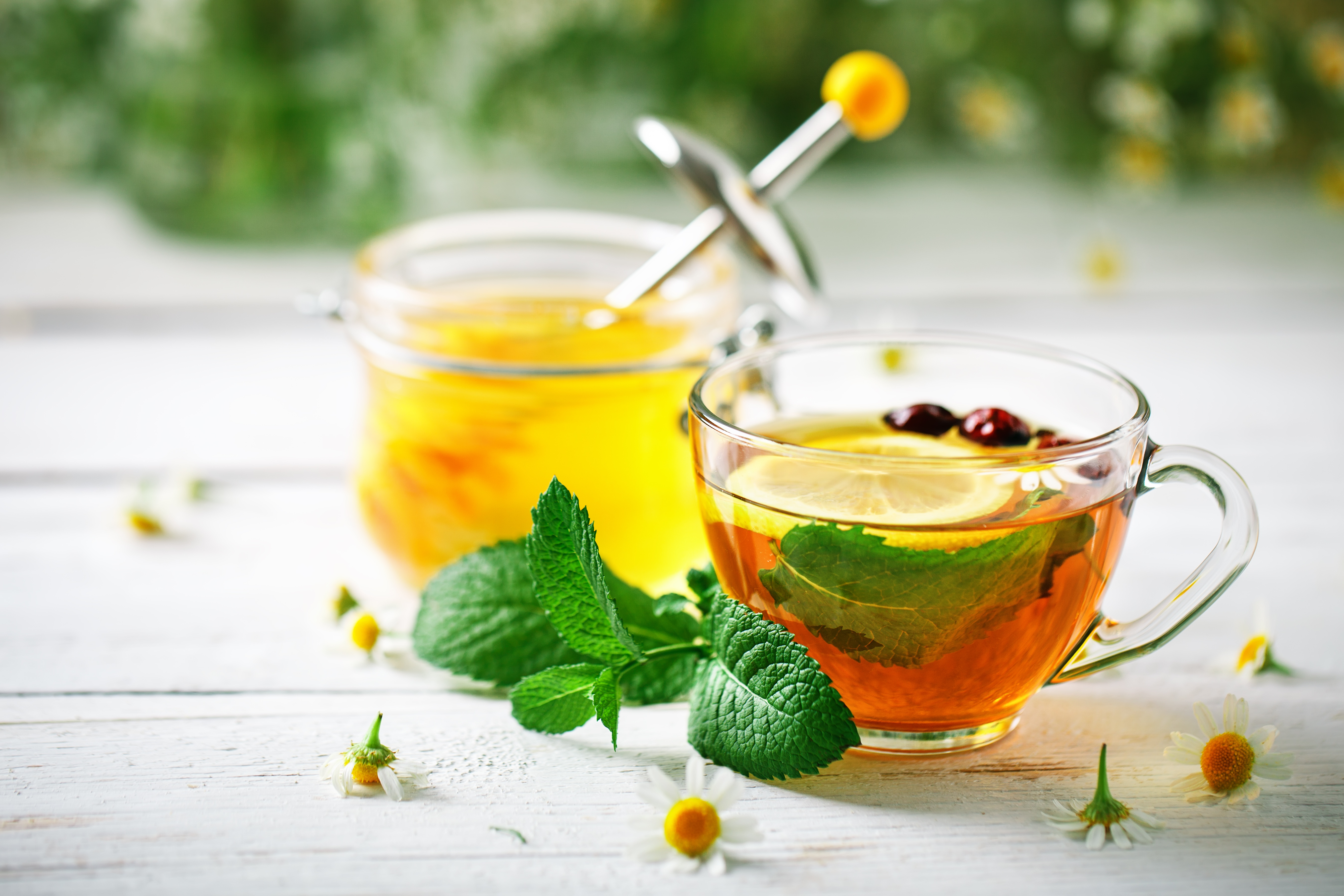 Открытки с чаем и медом