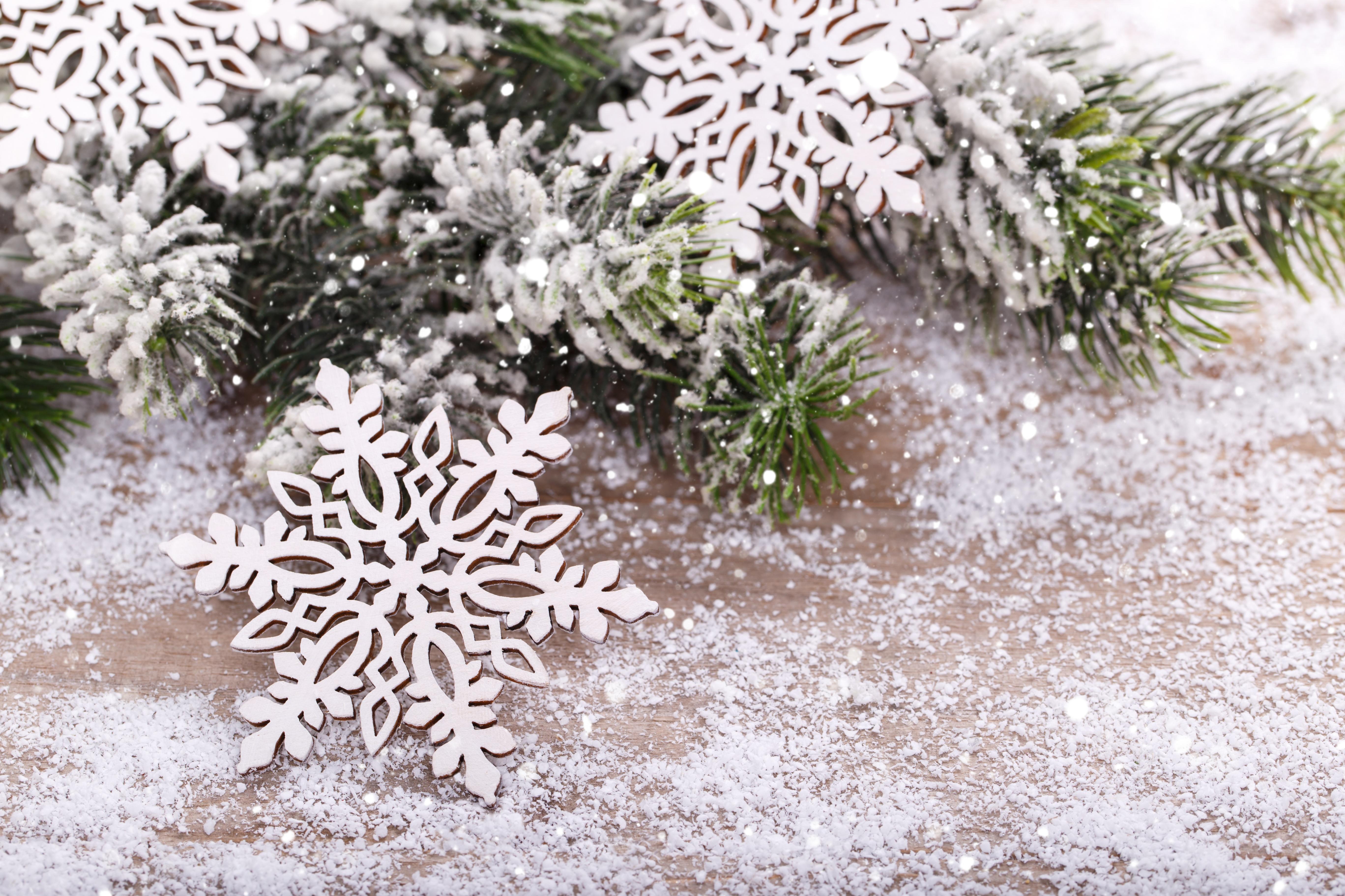 Зима и снежинки картинки