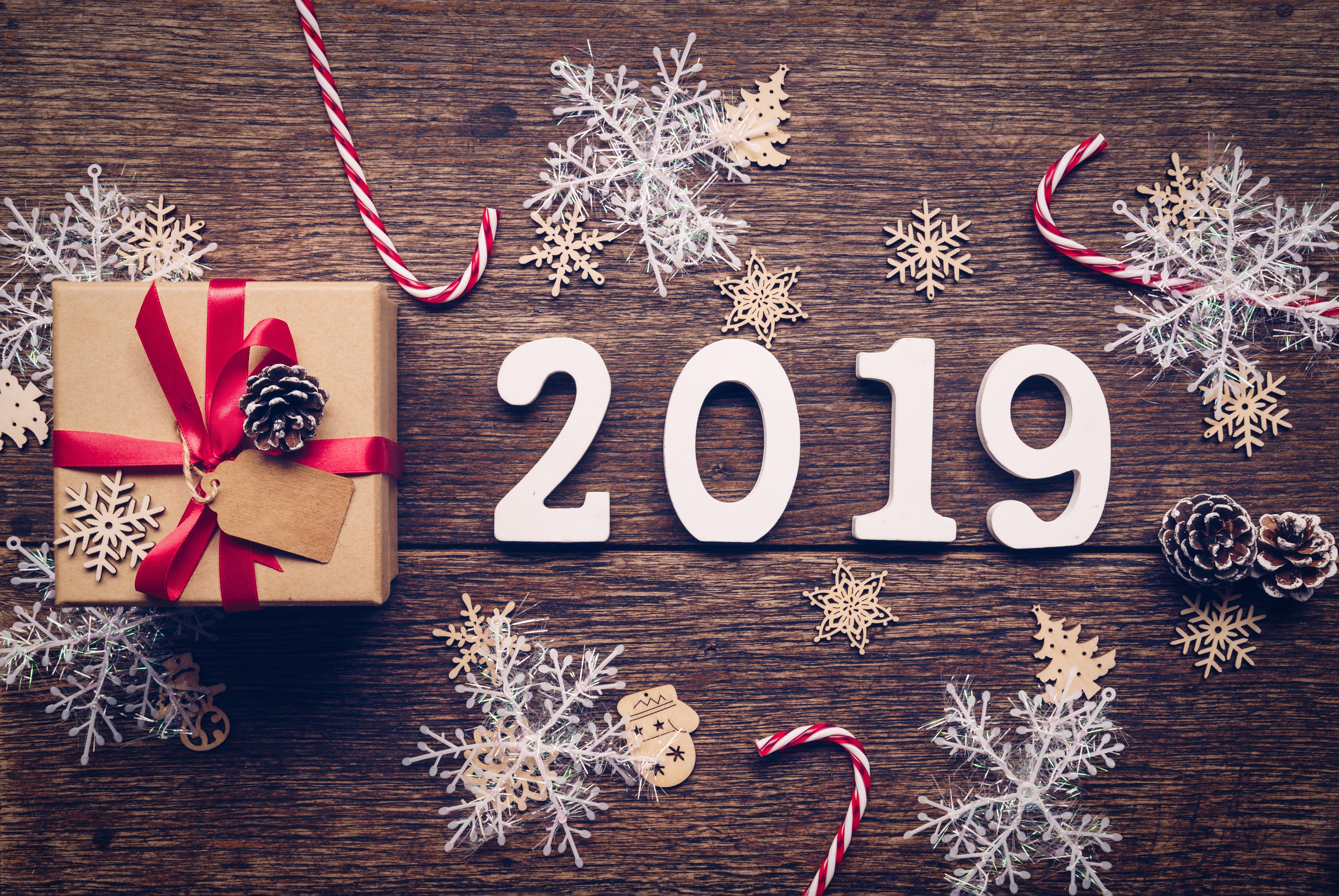 Новогодние картинки стильные 2019