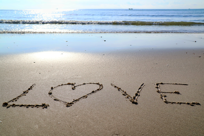 Картинка сердце на море