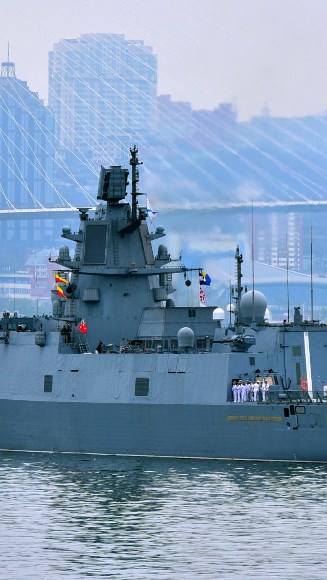 """""""海军上将戈尔什科夫""""号护卫舰首次穿越赤道"""