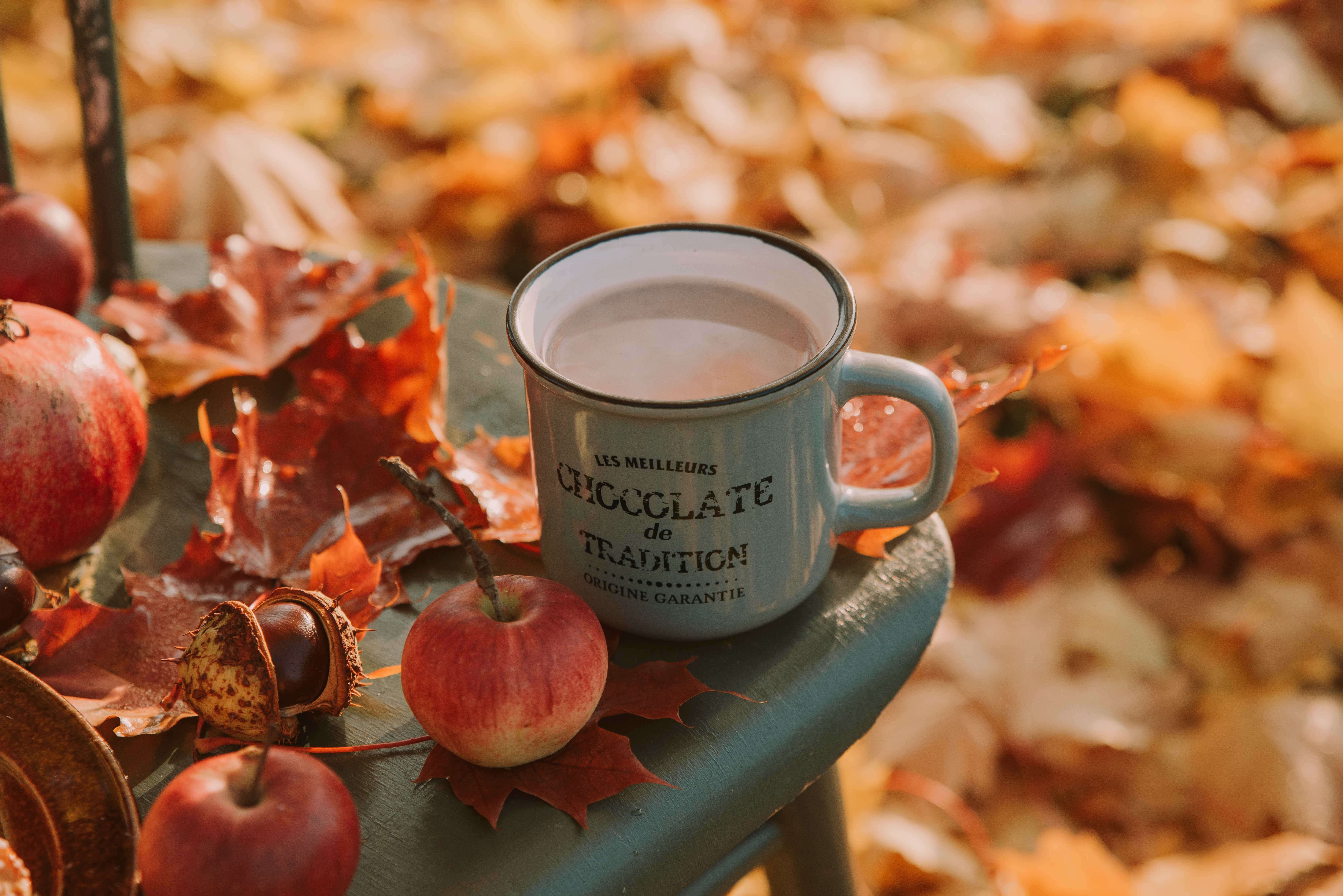 Картинки кофе шоколад осень
