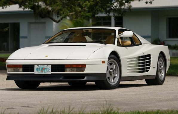 Картинка Ferrari, White, Testarossa
