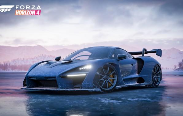Картинка McLaren, Microsoft, game, 2018, Senna, Forza Horizon 4