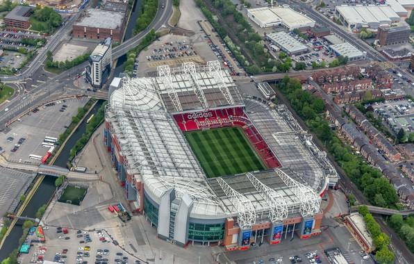 Картинка футбол, стадион, Manchester United, Manchester