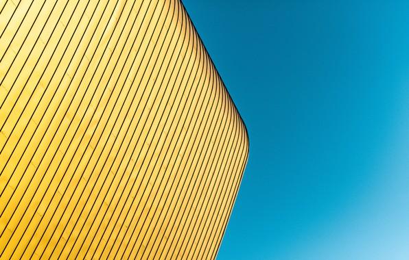 Картинка небо, здание, минимализм, угол