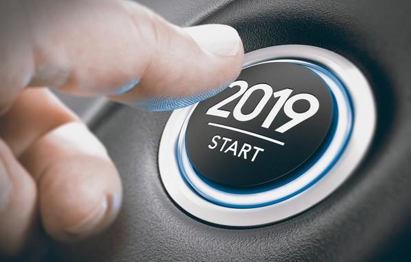 Картинка кнопка, Новый год, 2019