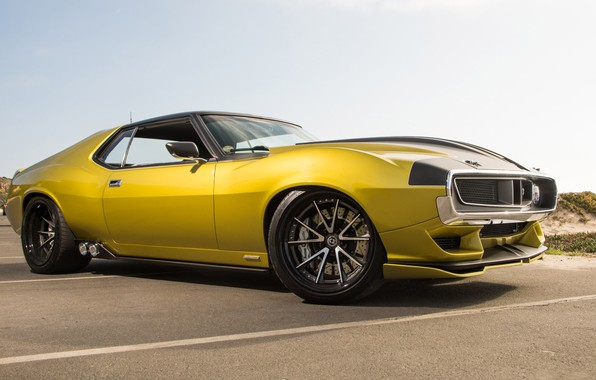Картинка Muscle, Car, Yellow, AMC, AMC Javelin