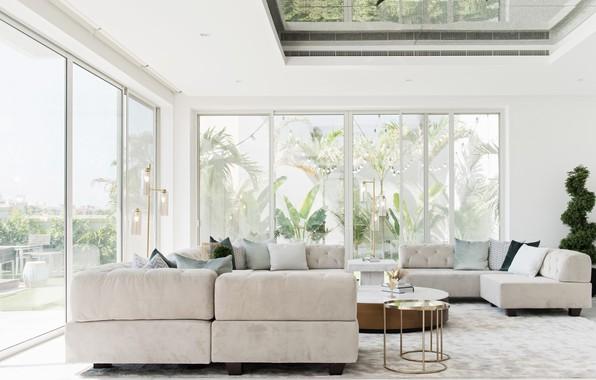 Картинка design, living room, lighting