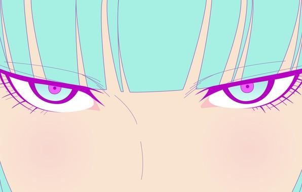 Картинка глаза, взгляд, вектор, аниме, арт, GIRL, TeddyLoid, ME ME ME, Daoko, BOR ost