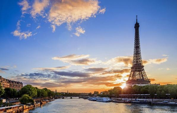 Картинка облака, Париж, утро.