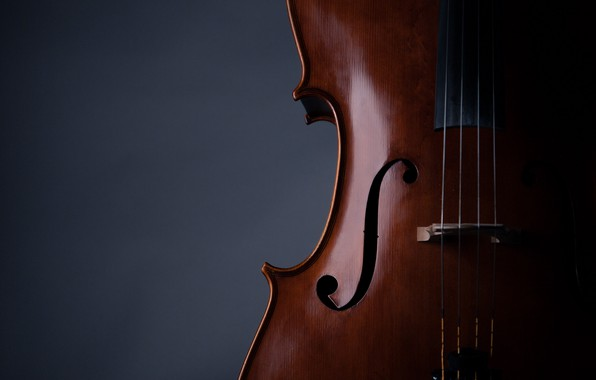 Картинка music, violin, strings, musical instrument, 2k hd background