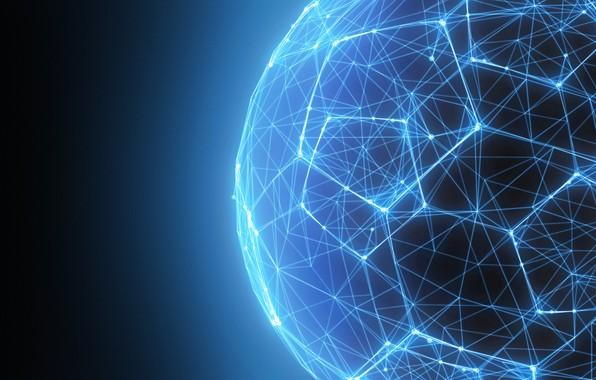 Картинка blue, lines, connectivity