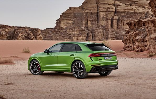 Картинка Audi, пустыня, кроссовер, 2020, RS Q8