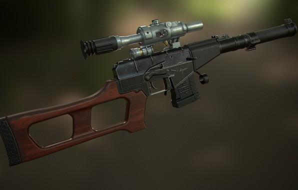Картинка рендеринг, оружие, gun, weapon, Винторез, render, Штурмовая винтовка, ВСС Винторез, Снайперская Винтовка, Sniper rifle, Винтовка …