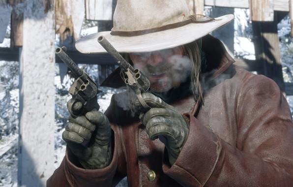 Обои Game, Rockstar Games, Red Dead Redemption 2, Gang, RDR