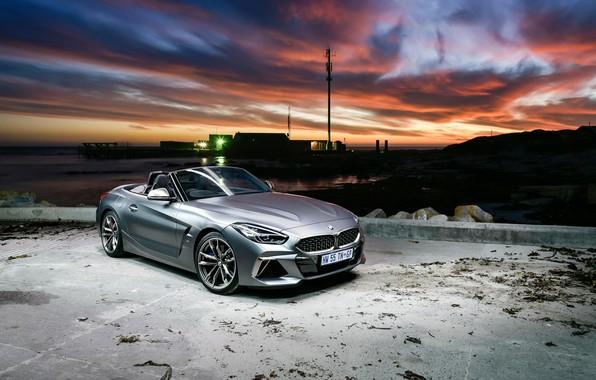 Картинка закат, вечер, BMW, BMW Z4, M40i, Z4, 2019