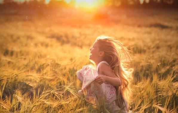 Картинка свет, природа, девочка