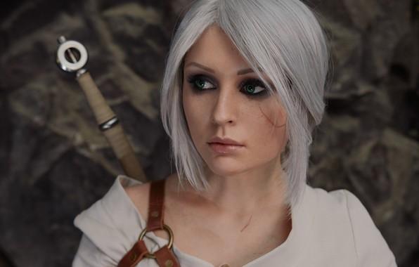 Картинка Портрет, косплей, cosplay, Персонаж, The Witcher 3: Wild Hunt, Ведьмак 3: Дикая Охота, Цири, Цирилла, …