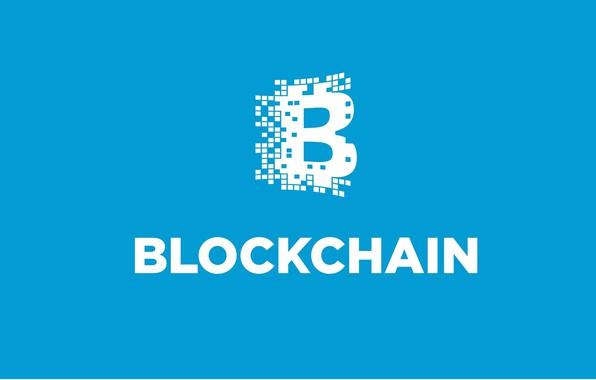 Картинка голубой, лого, fon, blockchain, блокчейн