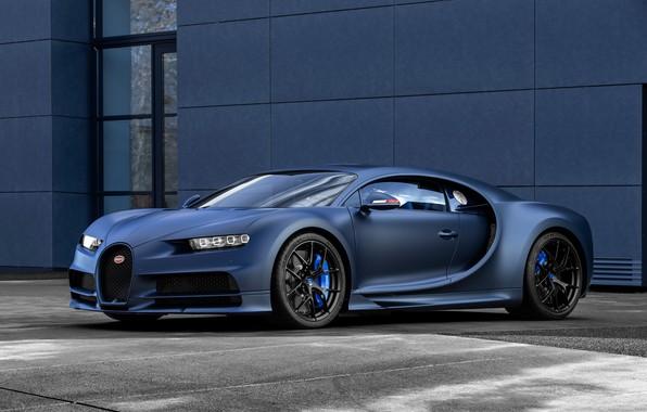 Картинка машина, фары, Bugatti, оптика, диски, Sport, гиперкар, Chiron, 110 ans Bugatti