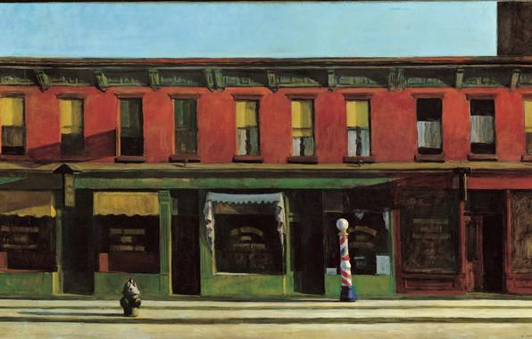 Картинка 1930, Edward Hopper, Early Sunday Morning