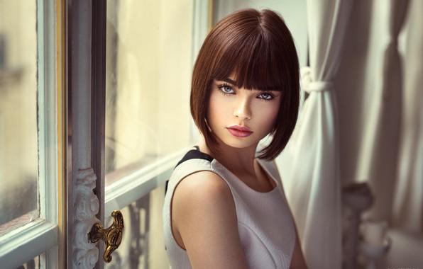 Картинка глаза, взгляд, модель, Девушка, красивая, причёска, Lods Franck, Marie Grippon