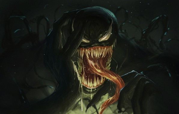 Картинка Язык, Зубы, Marvel, Веном, Venom, Симбиот, Creatures, by Neo Lee, Neo Lee